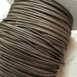 Сутаж 4мм шоколад 1м Италия