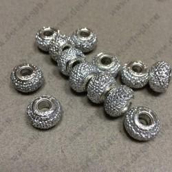 Пусина 14 мм из смолы серебро