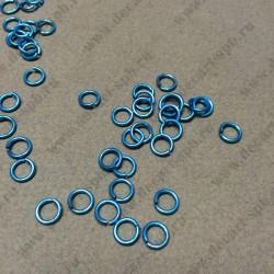 Кольцо цветное 5мм голубое