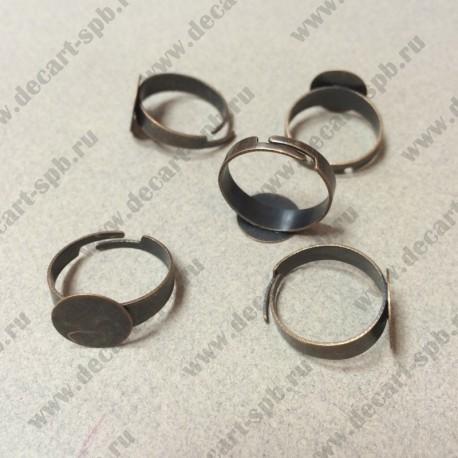 Основа для кольца 17,5мм с площадкой 12мм цвет медь