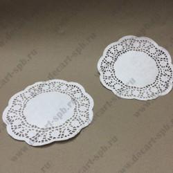 Салфетка бумажная белая диаметр 16,5 см 10 шт.