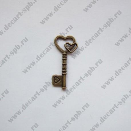 "Подвеска ""ключ большой"" 42х219мм бронза"
