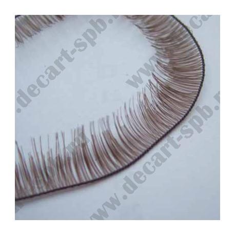 Ресница синтетика 6мм (длина ленты 20 см) коричневый Китай