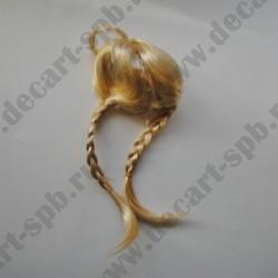 Волосы для кукол 100 (косички) блонд