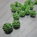 Бусина Шамбала 10мм светло-зеленый