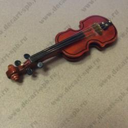 Скрипка со смычком, дерево 60х180мм