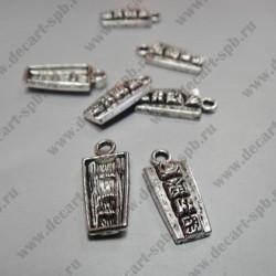 """Подвеска """"письменность майя"""" 9х20 мм ант.серебро"""