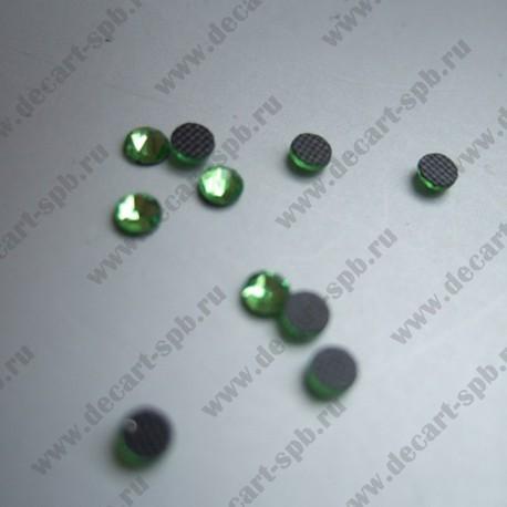 Стразы термо 3мм светло-зеленый 10шт