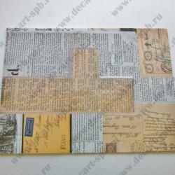 Ткань сатин клеевой 23х32 Вырезки газет