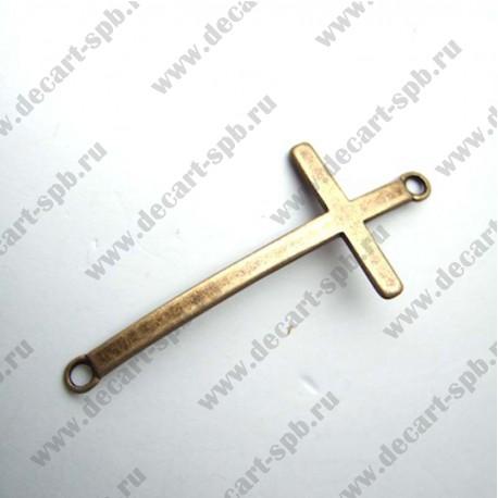 "Коннектор ""Крест"" 5,4х2,4мм бронза"