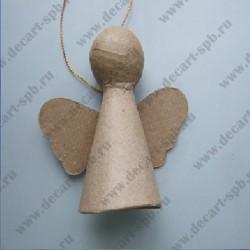 Фигурка из папье-маше объемная ангелочек подвес 10х8х5см