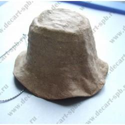 Фигурка из папье-маше объемная шляпка подвес 4х7 см микс
