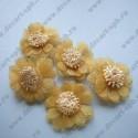 Цветы пришивные желтые 27мм