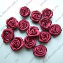 Цветы пришивные Роза бордовая 1,6 см