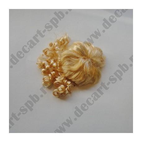 Волосы для кукол 80 (локоны) блонд