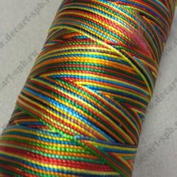 Нить капроновая 0.6мм диаметр, цветная радуга 1м