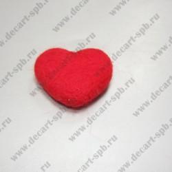 Сердечко из шерсти 5см х 4см