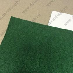 Отрезок фетра на клеевой основе 1мм Зеленый 20х30см Полиэстер