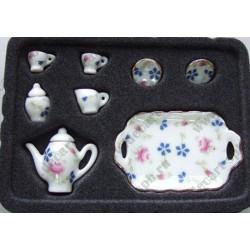 Набор фарфора миниатюрный кофейный 8 предметов