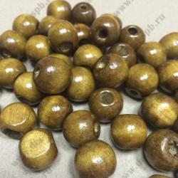 Бусины деревянные 8мм (коричневые) 10шт