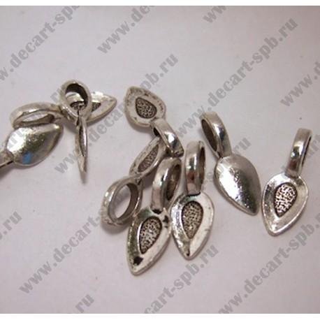 Бейл (для наклеивания кулона) 16х9 ант серебро 10шт
