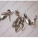 Бейл (для наклеивания кулона) 21х8 цвет - ант серебро