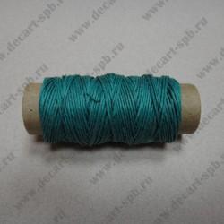 Нитка пеньковая для плетения 1мм толщина18 м, изумруд