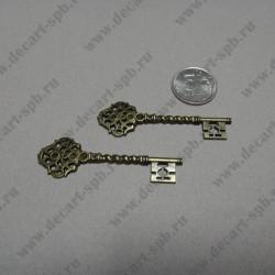 """подвеска """"ключ резной"""" 6,8*2,1мм"""