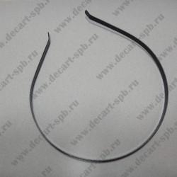 Основа для обруча 5х38мм, цвет чёрный никель