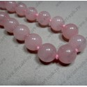 Бусина кварц 12 мм розовый