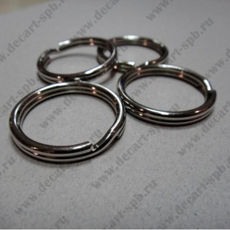 Кольцо для ключей 32 мм, цвет никель
