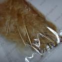 Перья индейки, цвет светло-коричневый, 20 шт