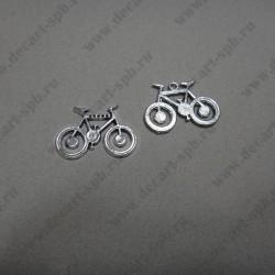 "Подвеска ""велосипед"" 35х24мм ант серебро"