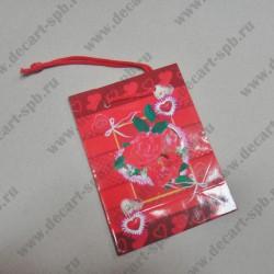 """Бумажный пакет """" Влюбленные"""" 8х11мм"""