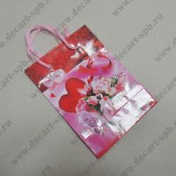 """Бумажный пакет """" к дню Святого Валентина"""" 8х11мм"""