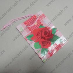 """Бумажный пакет """" Розы"""" 8х11мм"""