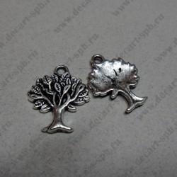 Дерево ант серебро 21*16 мм