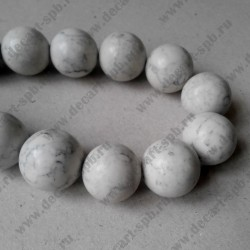 Каменная бусина, имитация мрамора, цвет слоновой кости, 20 мм