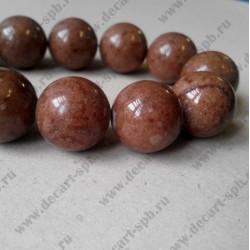 Каменная бусина, светло-коричневый, 18 мм
