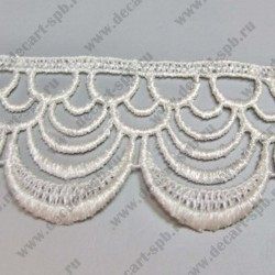 Гипюр арки кремовый 37 мм длина 50 см