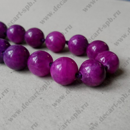 Бусина , пурпурный, 10  мм
