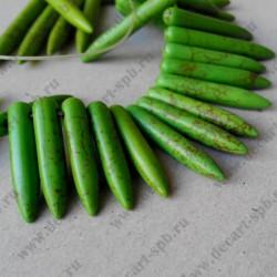 Бусина, иглы, зелёный, 26мм и больше