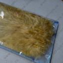 Декоративные перья, жёлтый, около 30 шт,  2г
