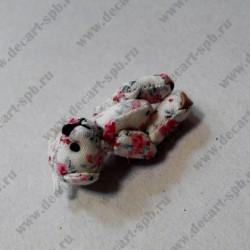 """Игрушка """" мишка"""", бежевый в цветочки, 45 мм"""