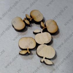 """Деревянная заготовка """"яблочки"""", 15 мм, 1 шт."""