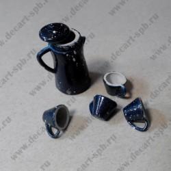 Набор для чая, 5 предметов, металл, эмаль, 24 мм и 7 мм