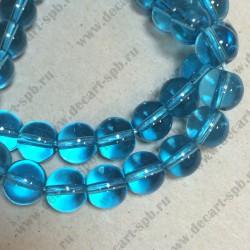 Бусина кварц 10мм голубой
