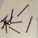 Разделительнь на 10 нитей 3х35мм цвет черный никель
