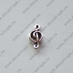 Бусина Пандора скрипичный ключ 18х9мм