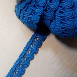 Лента декоративная, синяя, 50 см, 16 мм